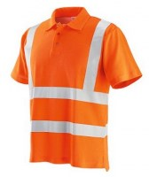 POLO ORANGE COTON-POLYESTER REFLEX NEW Soluprotech